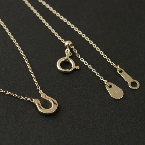 Little Horseshoe Necklace - K10YG w/1Diamond LIMITED