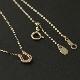 Little Horseshoe Necklace - K10YG w/1Diamond LIMITED