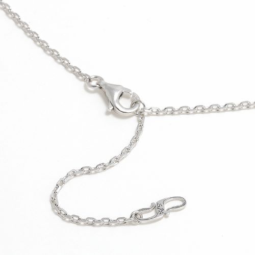 Horseshoe Amulet Necklace - Silver w/CZ
