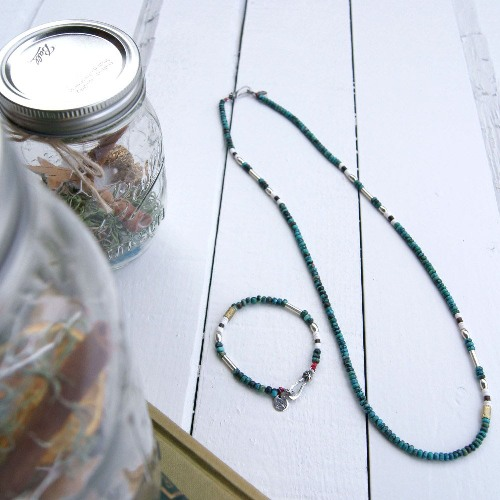 SILVER & TURQUOISE BZ NECKLACE Hey!Say!JUMP伊野尾さん着用