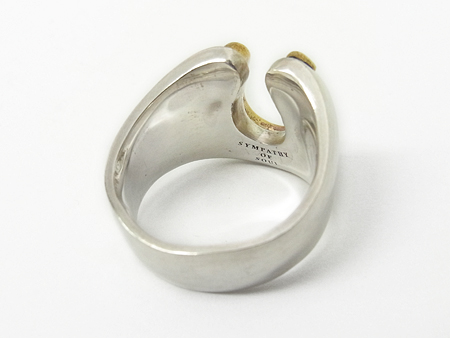 Combination Horseshoe Ring - Silver×Brass