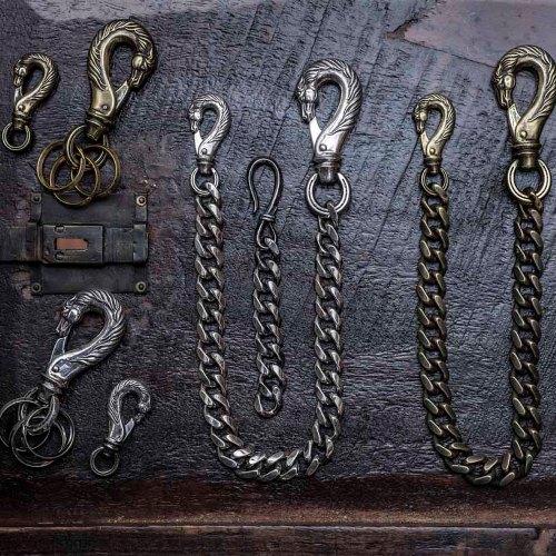HORSE WALLET CHAIN HORSE×HOOK/Brass