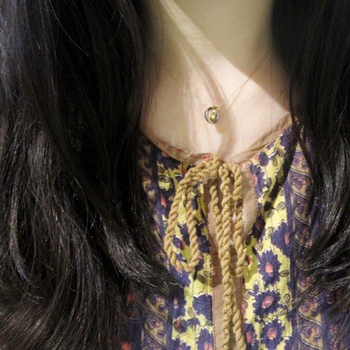 SILVER & 10K RING NECKLACE