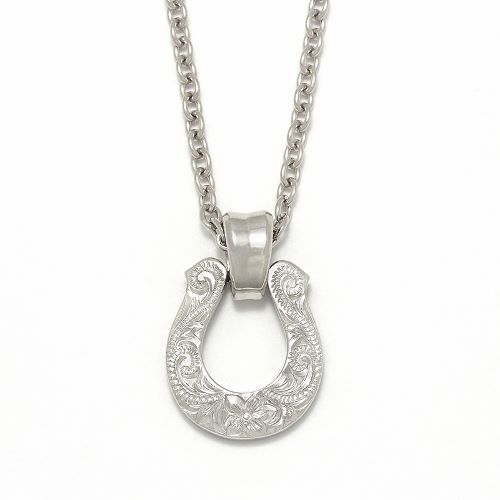 Collaboration XL Horseshoe Necklace S.O.S fp 天神VIORO店オープン記念モデル - Silver