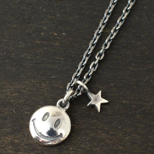 SMILE  & STAR NECKLACE L