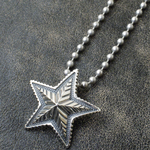BIG STAR PENDANT+STAINLESS BALLCHAIN
