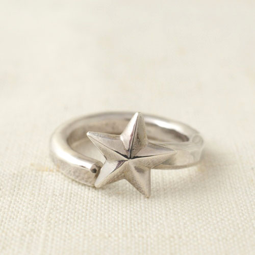 NEW MILITARY STAR SILVER RING