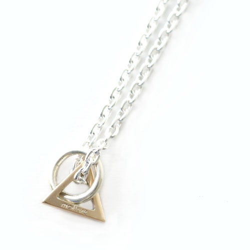 K10 TRIANGLE & SV CIRCLE NECKLACE