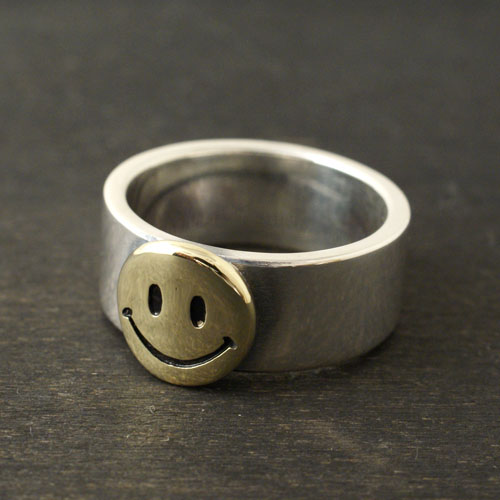 SMILE SILVER & BRASS RING L
