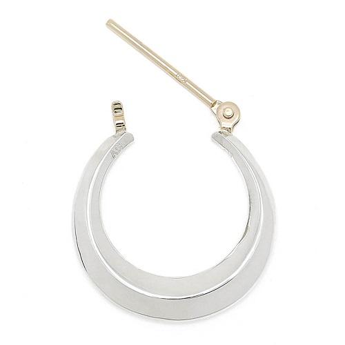 Moon Hoop Pierce - Silver