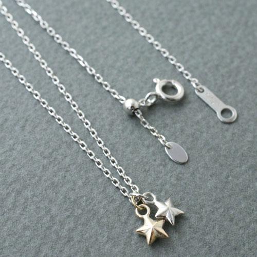 DOUBLE STAR NECKLACE SV&K10