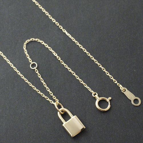 Small Key Charm - K18 Yellow Gold+K18-2段階アジャストチェーン(細0.25)45cm