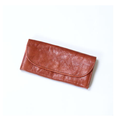 AMANDA OIL LEATHER LONG WALLET
