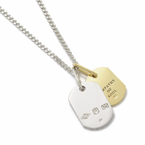 Small Dog Tag Necklace - Silver × K18Yellow Gold 矢沢永吉さん着用モデル