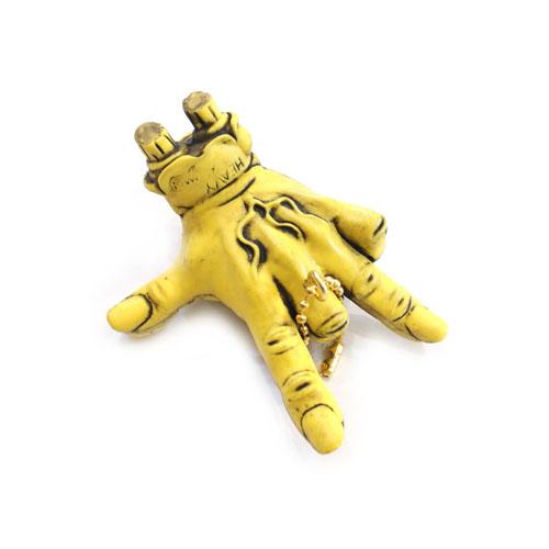 molliveHeavyOz×MAD SCULPTURES SCREAMING HAND GUWASHI KEY CHAIN ONE-TONE MODEL