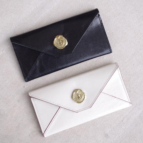 メール型長財布(やぎ革)