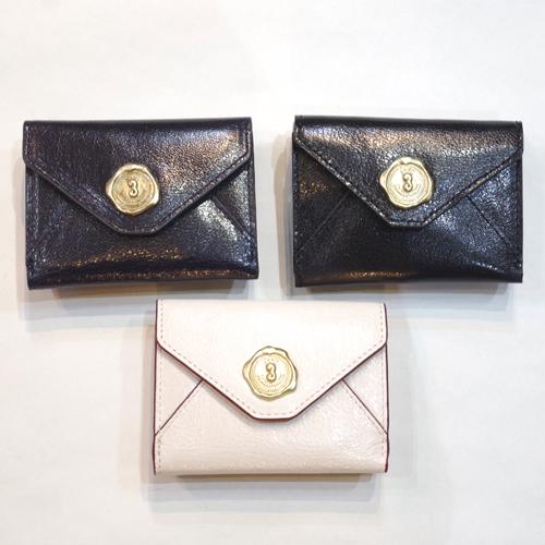 メール型3つ折りミニ財布(やぎ革)