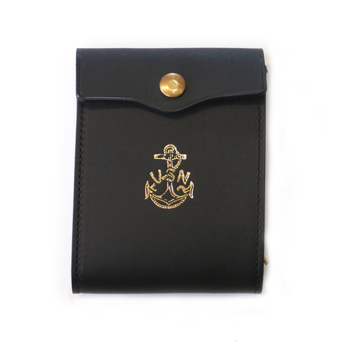 LEATHER NAVAL MIDDLE WALLET