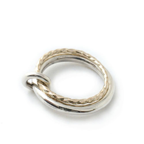 LINK RING SMALL K10&SV925 C*G LIMITED