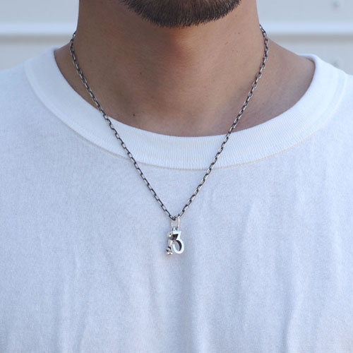 JOHNNY DEPP 3 & Question Tattoo Necklace