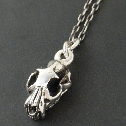 WOLFSKULL CHARM-silver