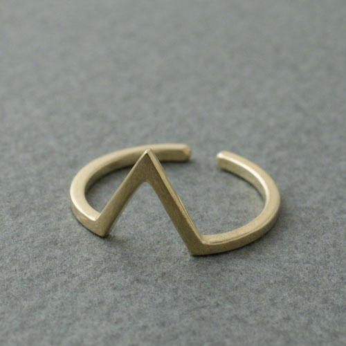 TRIANGLE RING GOLD COATING