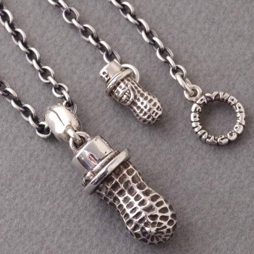 LARGE PEANUTS/Silver+PEANUTS CHAIN/Silver