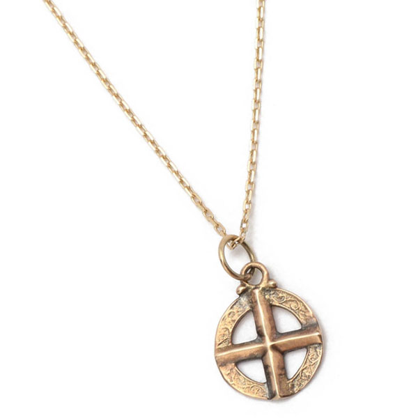 K10 GOLD MEDICINE WHEEL NECKLACE
