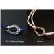 セール30%オフ在庫限りHorseshoe Amulet Cord Bracelet / 12ヶ月誕生石カスタム