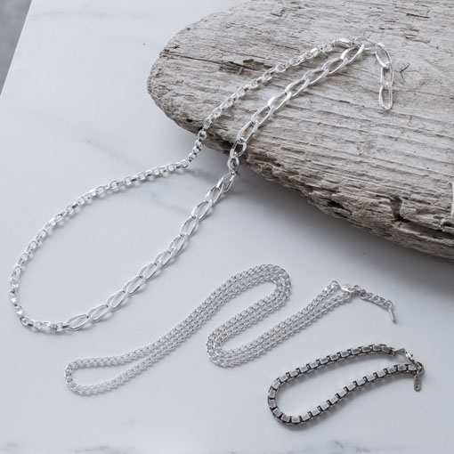 SILVER CHAIN NECKLACE TYPE4