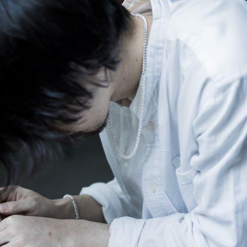 佐藤健さん着用 SILVER CHAIN NECKLACE PEARL