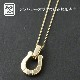 Horseshoe Amulet - K18Yellow Gold+K18-2段階アジャストチェーン(細0.25)45cm