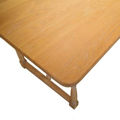 UN ダイニングテーブル(ろくろ脚)幅1600×奥行800
