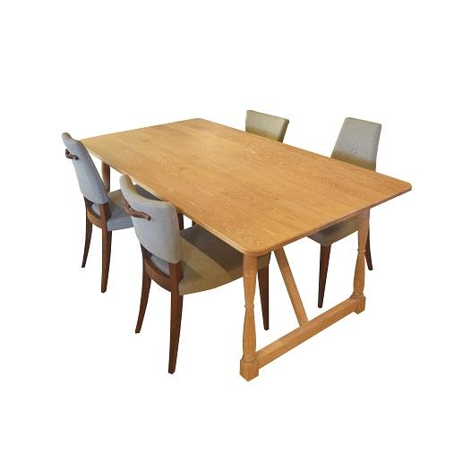 UN ダイニングテーブル(ろくろ脚)幅1800×奥行900