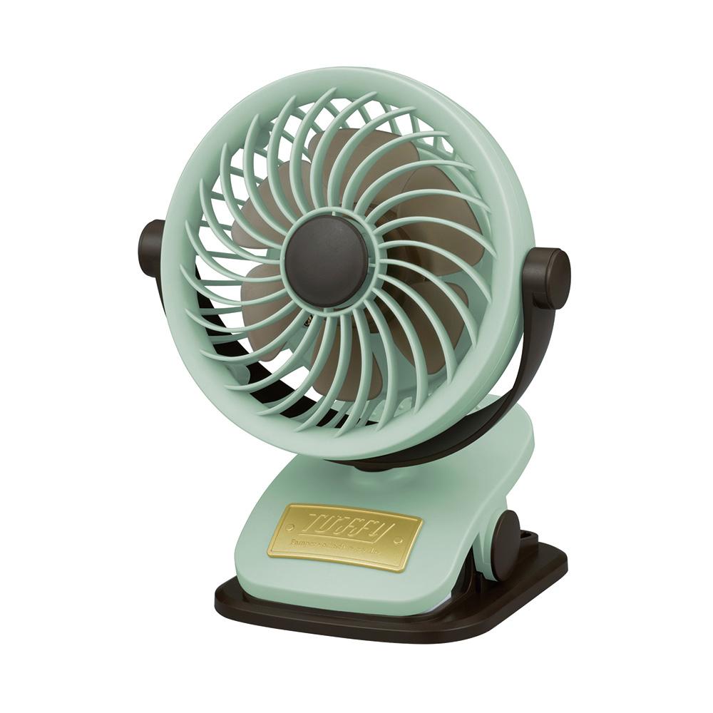 Toffy クリップ&スタンドアロマファン  ペールアクア TF84-CFAN-PA <充電式卓上扇風機>