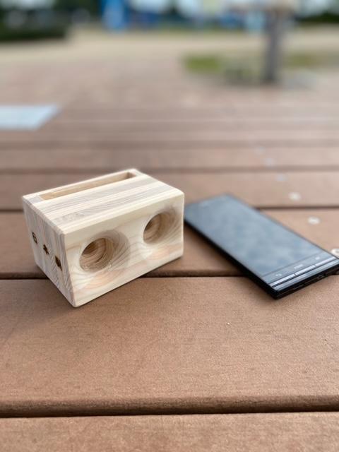 木製スピーカー 『鳴らし樽』