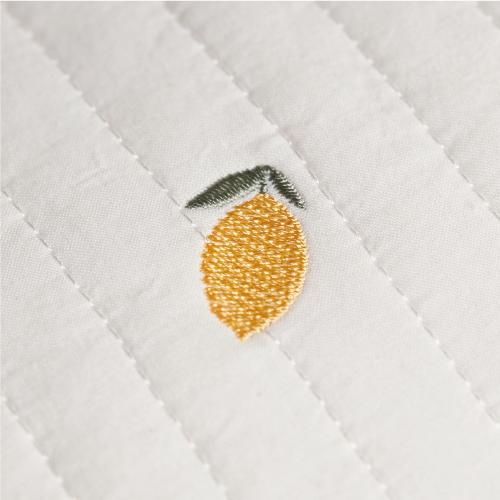 Round rugmat Embroide Lemons