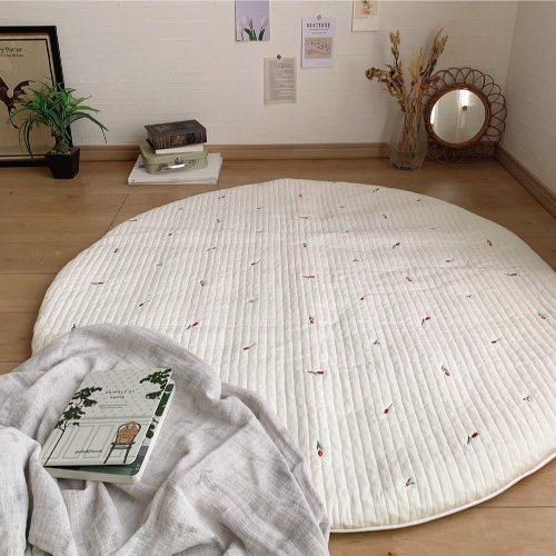 Round rugmat Embroide Tulip