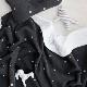 Premium Large Blanket / Embroide Star - Gray