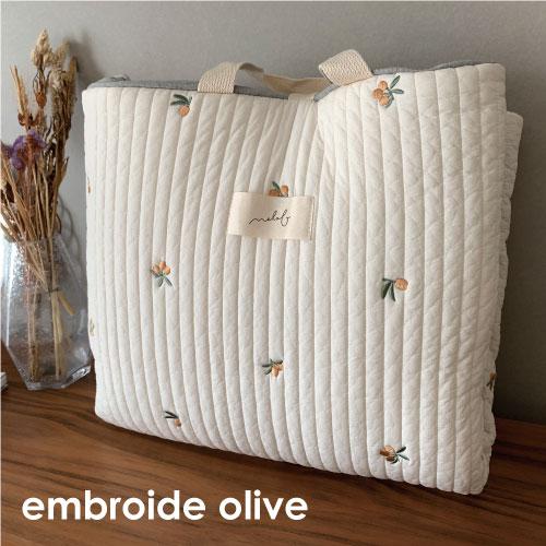 Napmat Embroide Olive