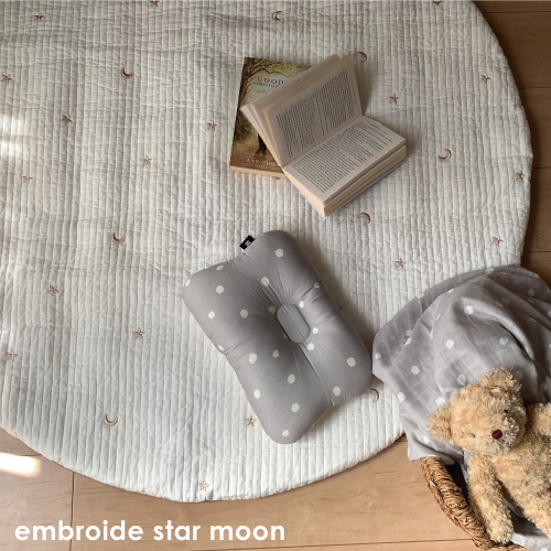 Round rugmat Embroide Star&Moon