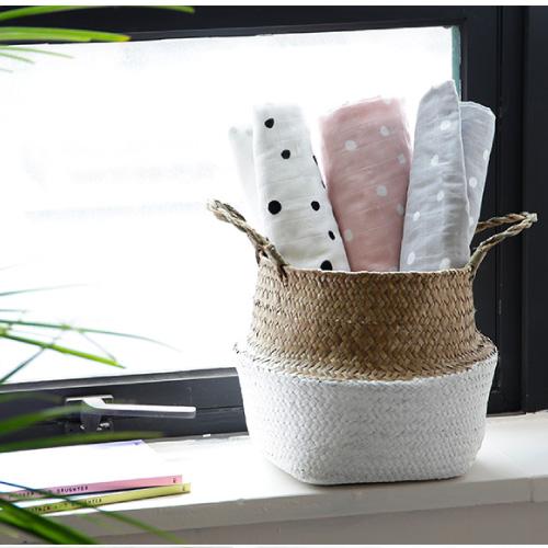 Premium Gaze Blanket / Marydot-White