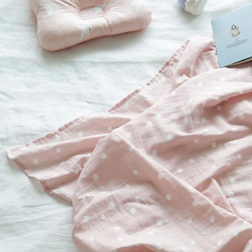 Premium Gaze Blanket /   Marydot-Pink