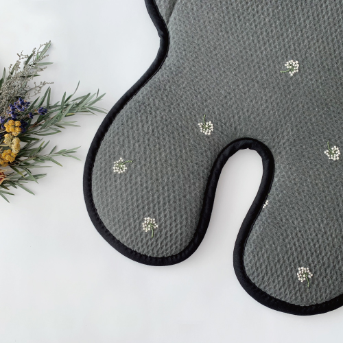 Premium Air_Embroide Flower-Kasumi Black