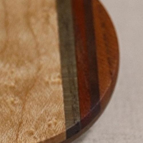おしゃれな木の手鏡