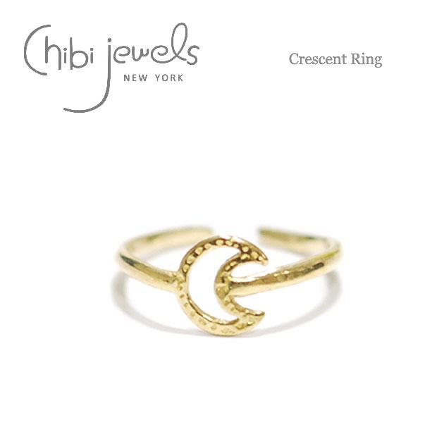 月ムーン モチーフ ゴールドリング 指輪 Crescent Ring (Gold)