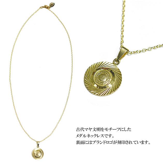 ゴールドメダル ネックレス Mayan Medal Necklace (Gold)