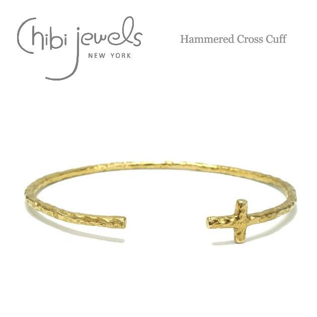 アンイーブン クロス C型 バングル Stucco Cross Cuff (Gold)
