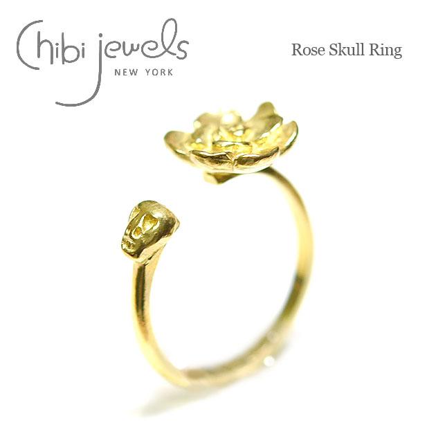 ローズ スカル ゴールドリング Rose Skull Ring (Gold)