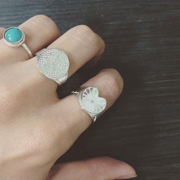 ノーススター 北極星 シルバー コンチョ リング North Star Concho Ring (Silver)